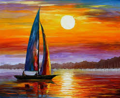 Painting Canvas Leonid Afremov Oil On Canvas Palette Knife Buy Original