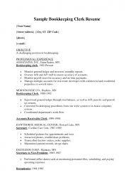 Payroll Clerk Resume Impressive Cover Letter Bookkeeper Resume Sample Bookkeeper Resume Sample