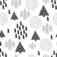 シームレスな北欧スタイル シンプルなイラスト クリスマス ツリーの背景