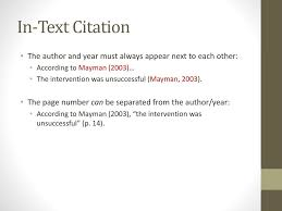 Apa Crediting Sources Ppt Download