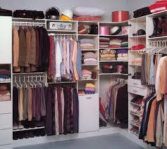 peaceful walk in wardrobe design neat order various clothes image