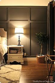 Dark gray accent wall and board & batten