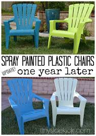 can you spray paint plastic adirondack chairs