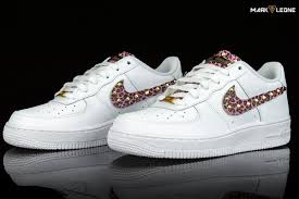 handmade nike air force 1 leather pink leopard studs by mark leone