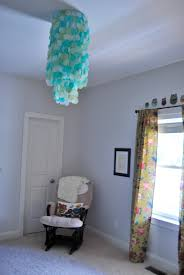 decorations creative drum shade ceiling lamp idea diy ceiling light fixtures with blue green paper