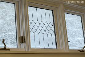 how to diy a faux leaded glass window it all started with paint on remodelaholic