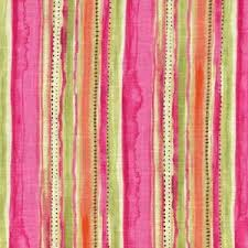 Small Picture Splash Zone Watermelon Stripe LINEN Fabric Pink Green Home Decor