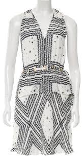 10 Crosby Derek Lam White Sleeveless Silk Short Casual Dress Size 4 S 72 Off Retail