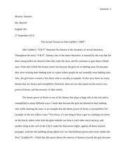 english character analysis essay sammy in the story a p  4 pages a p essay