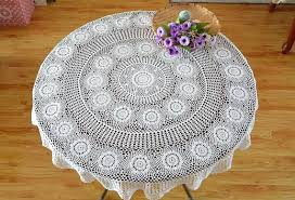 round table topper round table linen hand crochet white table cloth table topper for home decorative