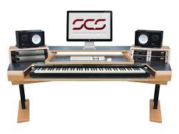 scs maestro keyboard desks with keyboard mouse insert white oak