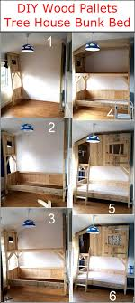Diy Wood Pallets Tree House Bunk Bed Wood Pallet Furniture