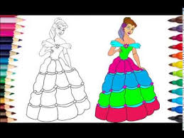 How To Draw Color Barbie Coloring Pages L Color For Children