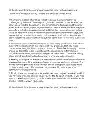 reflective reportple pdf individual template internship exle 5cdaxbdz7e