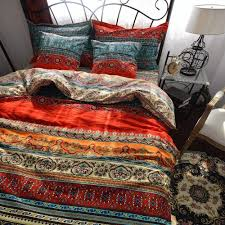 bohemia retro printing bedding ethnic vintage fl duvet cover boho bedding 100 brushed cotton bedding sets queen duvet cover cool bedding from yong8