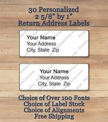 Printed Return Address Label Details About Sheet Of 30 Plain Personalized Self Adhesive Printed Return Address Labels