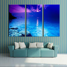 3 picture combination canvas wall art fantasy purple sunset beach painting the picture print on canvas landscape for home decor uk 2019 from