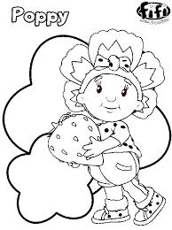 Kids N Fun Kleurplaat Fifi En Haar Bloemenvriendjes Poppy