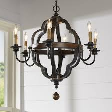 enthoven 6 light candle style chandelier