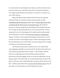 museum of tolerance essay  2 her
