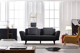 sleek living room furniture. Modern And Sleek Living Room Linen Fabric Sofa Couch (Dark Grey) Furniture