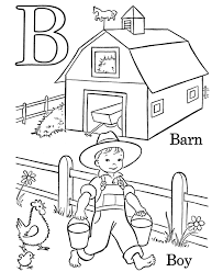 Alphabet Coloring Pages Letter B Free Printable Farm Alphabet
