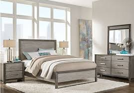 king bedroom sets. Abbott Gray 7 Pc King Panel Bedroom Sets