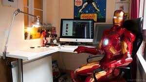 Iron man office House Ironman Office Hollywood Reporter Ironman Office Heros Iron Man Hero