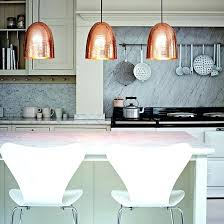 kitchen lighting idea.  Lighting Kitchen Lighting Pendant With White Range Cooker Breakfast Bar And Copper Lights  Ideas Full Size In Idea