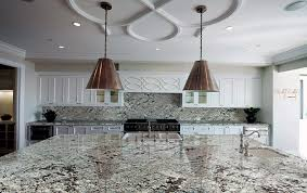 White Kitchen With Granite Lennon Granite