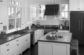 Alluring Small Grey Kitchens Design With White Cabinetry Set As Well As Grey  Marble Countertop Also Subway Ceramic Backsplash In Vintage Grey Kitchens  ...