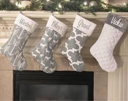 gray christmas stockings. Modren Stockings Family Christmas Stockings Gray Farmhouse  Personalized To Stockings M