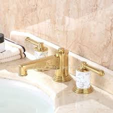gold bathroom sink faucets finish