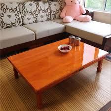 wood furniture korean dining table folding leg rectangle 90 80cm home furniture asian antique floor low