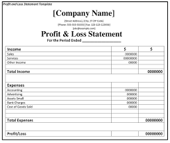Profit And Loss Statement Profit And Loss Statement P L Fincash Com