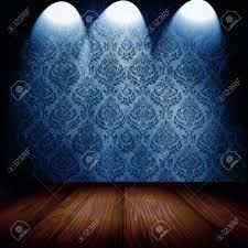 Blue Damask Wallpaper Stock Photo ...