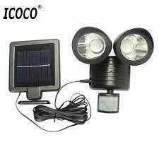 ICOCO 22LED <b>двойной</b> детектор безопасности Солнечный ...