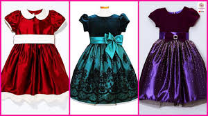 Baby Dress Frock Design Latest Kids Velvet Frocks Designs Images Winter Dresses For Baby Girls Pictures