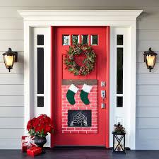 Christmas Fireplace Door Dcor, medium