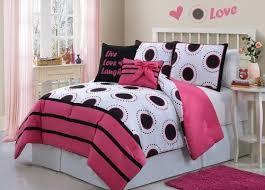 Pink Black and White Bedding – Sweetest Slumber & Hot Pink, Black & White Girls Polka Dots Twin Comforter Set Adamdwight.com