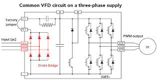 mon vfd circuit on a three phase supply
