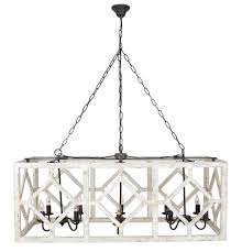 Chandeliers For Kitchen Tables Geometric Rectangle Chandelier Old White Modern Farmhouse