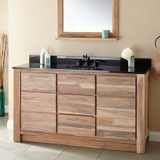 Bathroom Single Vanity 60 Venica Teak Single Vanity For Undermount Sink Whitewash