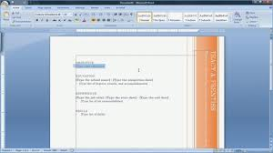 Microsoft Word 2007 Resume Template Resume Example