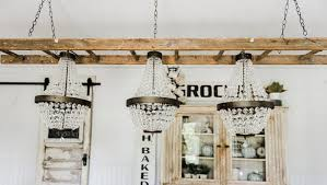 how to turn a ladder into a light fixture the white cottage farm lights 4