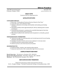 Resume Objective Samples Customer Service Customer Service Resume Objective Templates At