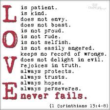 Image result for love is patient love is kind
