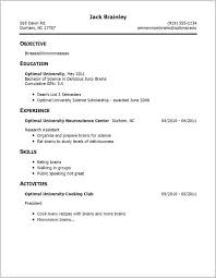 No Work Experience Cover Letter Examples Unique Resume Template For