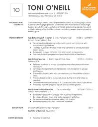 sample resume for a teacher best teacher resume example livecareer
