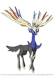 Online coloring pages for kids and parents. Learn How To Draw Xerneas From Pokemon Pokemon Step By Step Drawing Tutorials